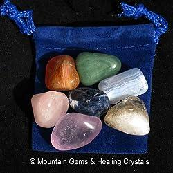 Chakra Balancing Healing Stone Kit with Free Pouch