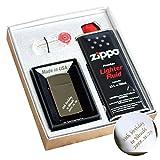 名入れ zippo ブラックアイス スリム #20492 ギフト セット