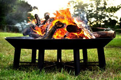 Huge Garden Polygon Fire Pit The Nonagon By Nimonic