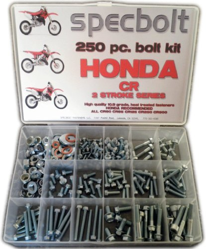 Specbolt Honda CR two stroke Bolt Kit for Maintenance & Restoration of MX Dirtbike OEM Spec Fastener