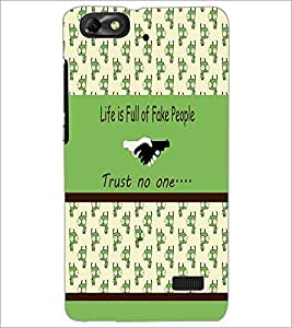 PrintDhaba Quote D-3834 Back Case Cover for HUAWEI HONOR 4C (Multi-Coloured)