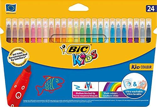 Bic Kids Kid Couleur Etui carton de 24 Feutres de coloriage