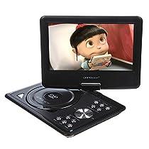 9.5-Inch Portable DVD Player,LCD Screen Display,USB,Analog Signal TV,SWIVEL&Flip,VAG/CD/VCD/MP3/MP4/USB,Home Theater by Bravolink(9.5 inch)
