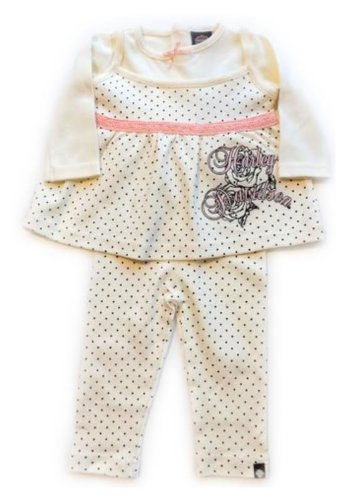 Harley Davidson Toddler Girl 2 pc Babydoll Outfit Apparel 2T 3T 4T