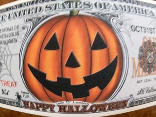 [Trick or Treat! Halloween Million-dollar novelty bill] (Six Million Dollar Man Costume)