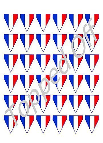 36-edible-french-flag-bunting-for-cake-on-fondant-icing-sheet-by-topped-off-free-uk-shipping