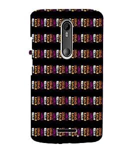 EPICCASE purple blocks Mobile Back Case Cover For Moto X 3rd Gen (Designer Case)