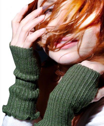 Oatmeal Six Inch #Fashionable #Fingerless Hand Warmers By Kd Dance New York W/ Ruffled Top & #Thumbhole, #Office Chic #Madeinusa