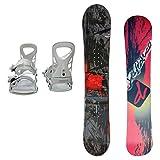 DEFIANCE メンズ スノーボード2点セット 152サイズ レッド+MLホワイト