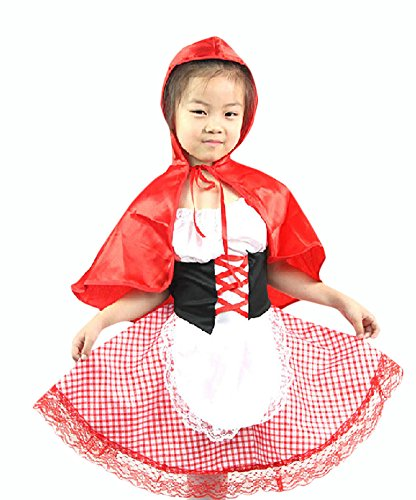 Ace Halloween Children's Kids Girls Little Red Riding Hood Cartoon Costumes