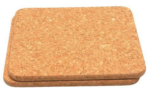 Set of 2 Cork hot pot stands  Size 200x200x9mm