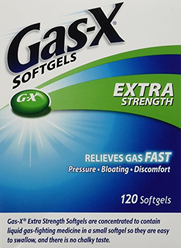 Gas-x Extra Strength , 120 Softgels, Gas, Bloating, Relief Simethicone 125mg (Extra Strength Gas X compare prices)