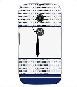PrintDhaba Tie D-4789 Back Case Cover for MOTOROLA MOTO E2 (Multi-Coloured)
