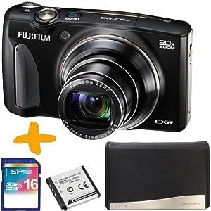 "Fuji F900 EXR Digitalkamera Schwarz + 16GB + Tasche + Ersatz NP-50 Lithium-Batterie (Fujifilm Finepix F900EXR, WiFi, 16MP, 20x optischer Zoom, 3 ""LCD, Full HD Video)"