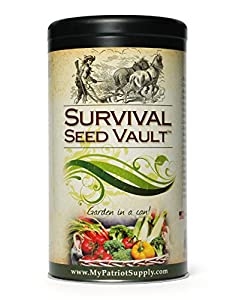 Survival Seed Vault - Heirloom Emergency Survival Seeds - Plant a Full Acre Crisis Victory Garden - 20 Easy-to-grow Varieties