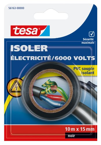 tesa-56163-00000-00-isoler-electricite-6000-volts-pvc-souple-isolant-10-m-x-15-mm-noir