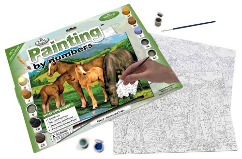 Royal & Langnickel Painting by Numbers Junior Large Art Activity Kit, Horses and Foals