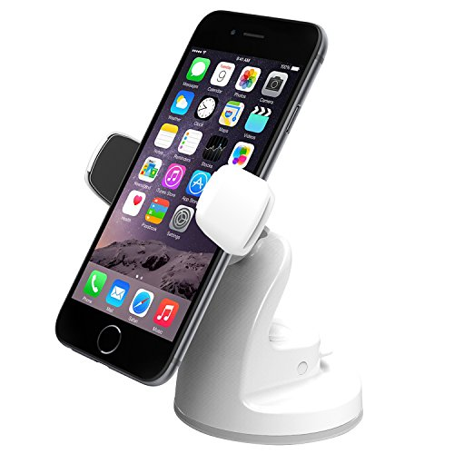 iOttie Easy View 2 Car & Desk Mount Holder for iPhone 6 (4.7)/Plus (5.5) /5s/5c, Samsung Galaxy S5/S4/Note 4/3, LG G3, Google Nexus 5 – Retail Packaging – White