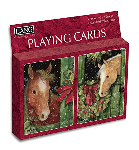 Lang Holiday At The Stables Playing Cards by Wendy Bentley (Set of 2)