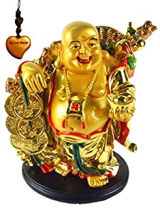 Amazon.com: Betterdecor- A Golden Happy Buddha (Laughing ...
