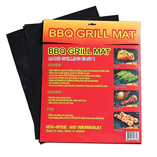 Bbq Grill Mats 2014'S Newest Design - Set Of 2 Premium Quality Perfect For Charcoal, Gas, Electric Grills & As Oven Liners - Easy To Clean, Non-Stick Reusable, Best Heat Transfer For Professional Grillers - Customer Satisfaction Guaranteed.
