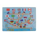 【ノーブランド 品】木製 国旗 スライド マッチング 迷路 パズル ボードゲーム 子供 おもちゃ 贈り物