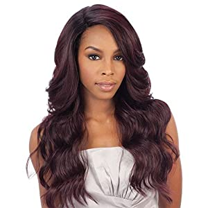 Freetress Equal Brazilian Natural Deep Invisible L Part Lace Front Wig DANITY