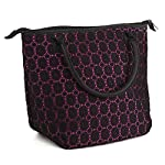 Luxurious Lace Chicago Insulated Lunch Bag (Pink & Black Lace)