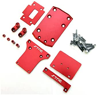 ST5822R ST Racing CNC Machined Slash 2WD Aluminum Low Center of Gravity (LCG) Conversion Kit (Red)