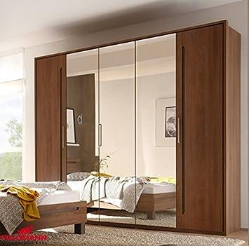 Kleiderschrank Schrank 54908 michigan nussbaum / lava 5-turig 225cm