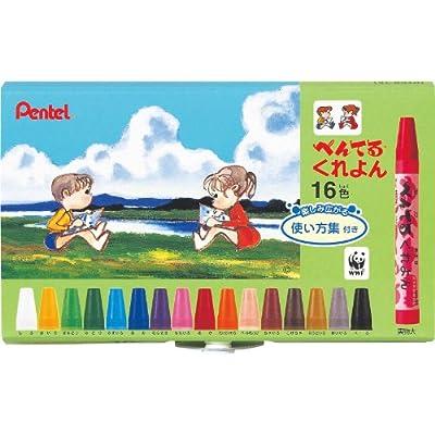 ぺんてる クレヨン PTCR-16 16色