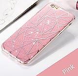 Anitic iPhone6s ケース iPhone6 ケース おしゃれ キラキラ かわいい グラフ 薄くて軽い一体型 ハード 取り出し易い カバー (ピンク)