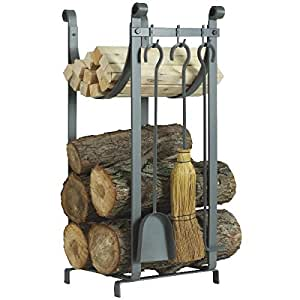 Home Impressions Fireplace Tool Set With Log Rack Home Improvement