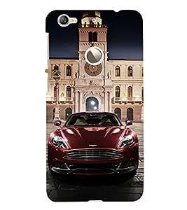 Vizagbeats Maroon Car Aston Back Case Cover for Le TV Le 1s