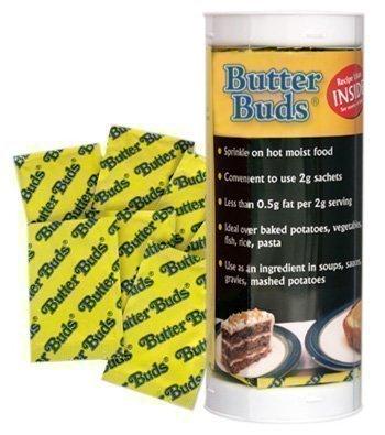 Butter Buds Lot de 40 sachets de granulés de beurre allégé Idéal sur des pommes de terre au four ou des pâtes 2 g