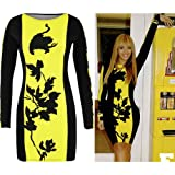 Womens Tunic Celeb Beyonce Mini Dress Leaf Print Panel Bodycon Skirt Top