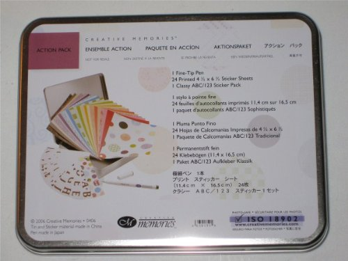 """Creative Memories Collection 'Action Pack"""" Tin W/Supplies"""