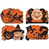 Beistle 4-Pack Halloween Cutouts, 9-Inch