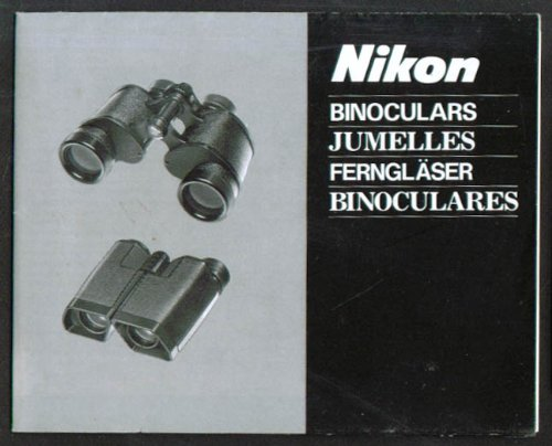 Nikon Binoculars How To Instruction Folder 1983