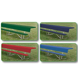7.5 ft.Players Bench with Shelf - Green
