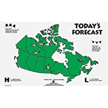 American Educational Canadian Weather Wall Map, 44&#034; Length x 28&#034; Height