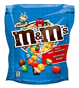 Crispy M&M's Chocolate Candy with Crisped Rice Center, 170g Bag - Rare