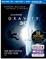 Gravity (Blu-ray 3D + Blu-ray + DVD + UltraViolet Combo Pack) by Warner Home Video