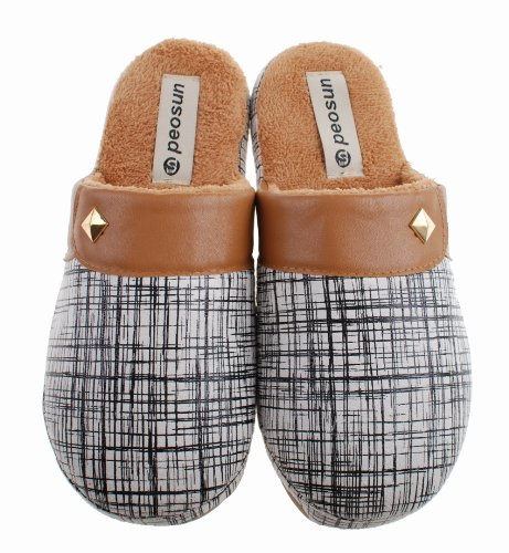 Colorfulworldstore Autumn&winter Men&women's Warm home indoor cotton slippers-Suede Bronzing Fight skin boots