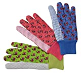 G & F 1852-3 Women Soft Jersey Garden Gloves & Work Gloves, 3-Pairs Green/Pink/Blue per Pack