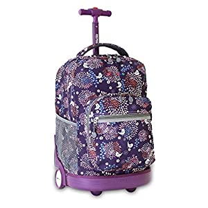 J World New York Sunrise Rolling Backpack (BABY BIRDY)