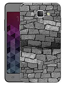 """Humor Gang Monochrome Bricks Printed Designer Mobile Back Cover For """"Samsung Galaxy A8"""" (3D, Matte, Premium Quality Snap On Case)"""