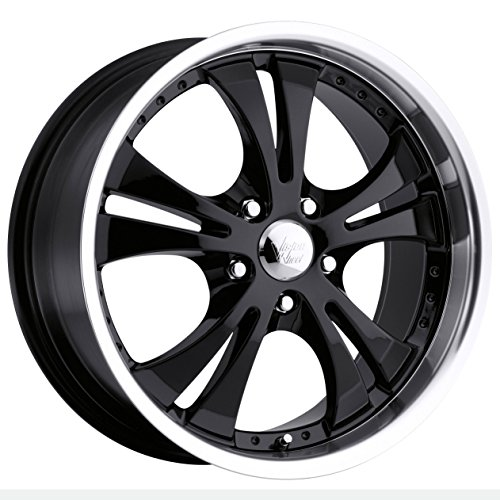 "Vision Shockwave 539 Gloss Black Machined Lip Wheel with Chrome Cap (18x8""/5x114.3mm)"