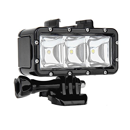 SHOOT-Waterproof-Diving-Light-High-Power-Dimmable-LED-Light-Underwater-Light-For-Gopro-Hero-4332SJCAM-SJ4000SJ5000Xiaomi-Yi-with-1200mAh-Built-in-Rechargeable-Battery-Charging