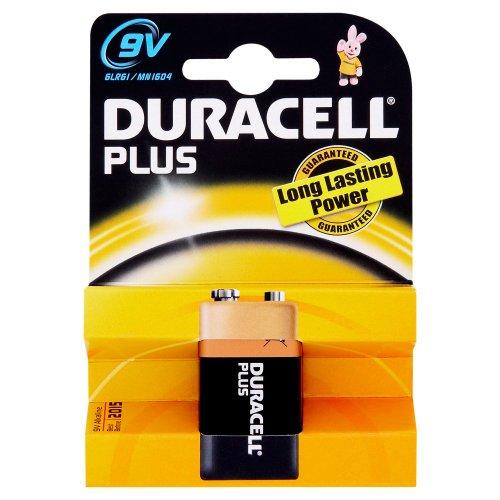 Duracell Plus MN1604 Alkaline 9 V Battery